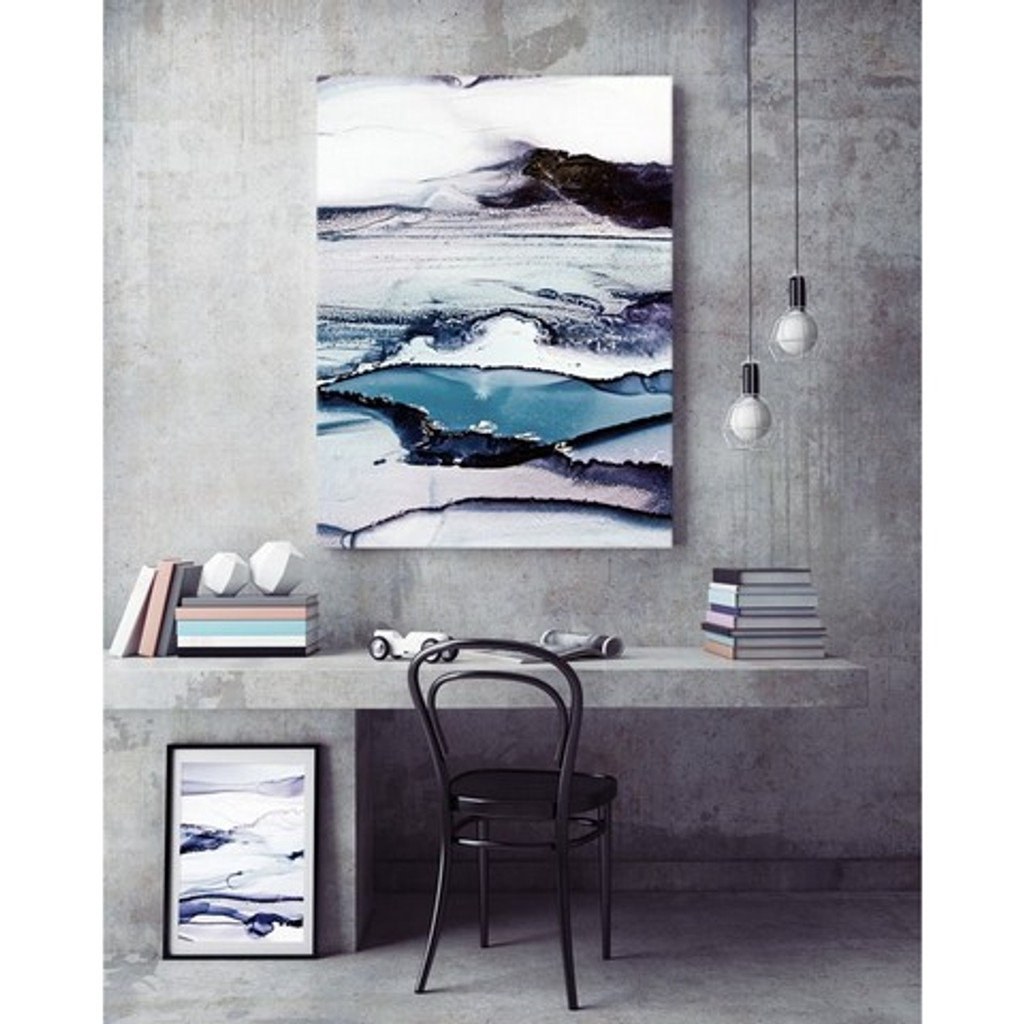 Modern organic abstract art, in situ | Celeste Wrona | Print Decor Melbourne