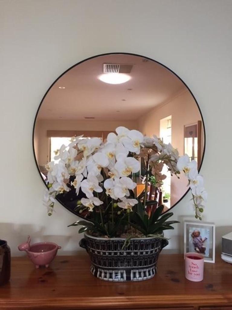 Modern Circular Mirror - Copper Toned Mirror