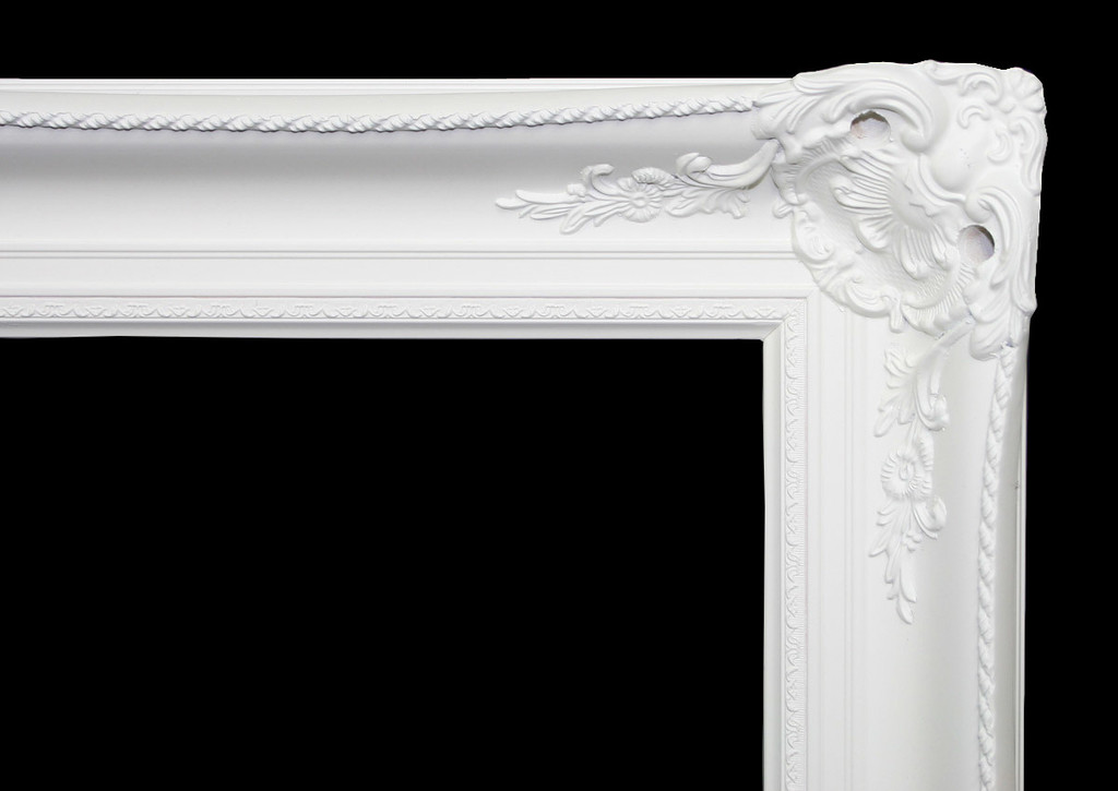 Empty Frame Classic Antique Victorian  White