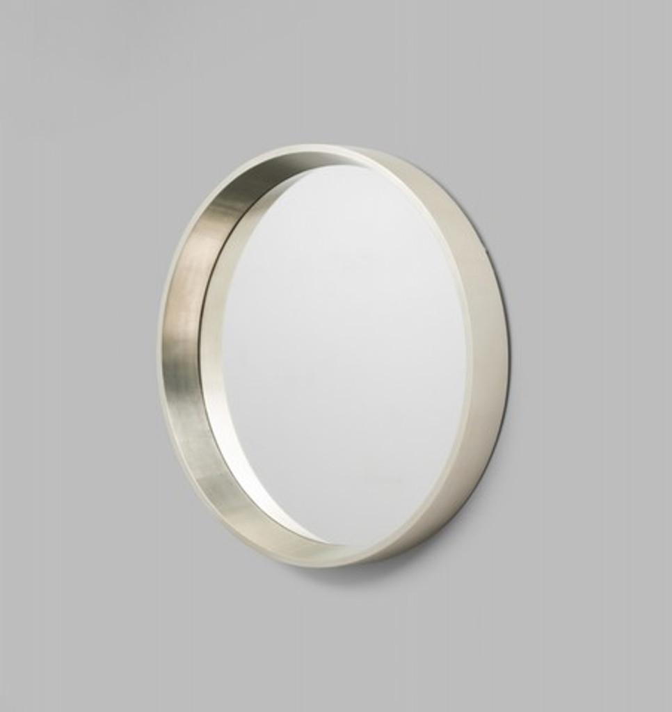 Round Silver Framed Mirror, 90 cm