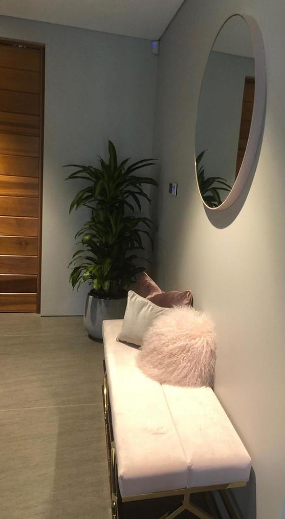 Pink Blush Colour Mirror, In a Hallway