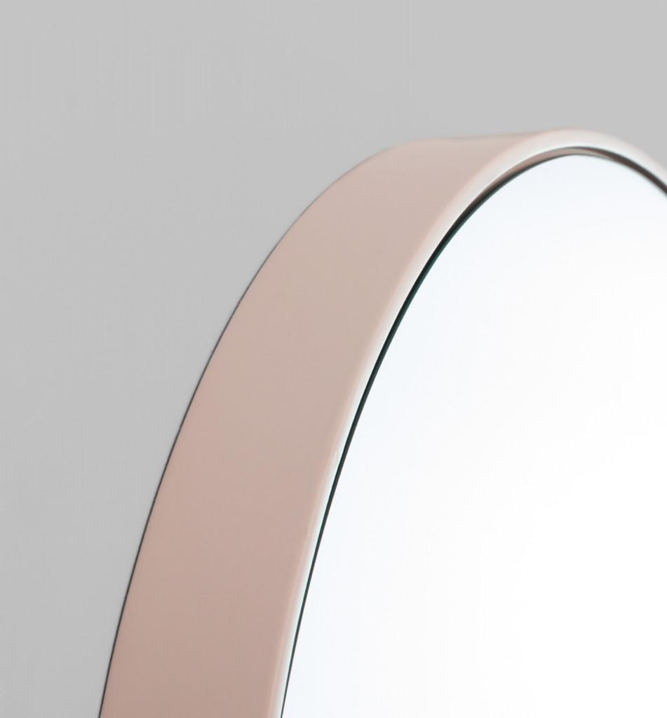 Modern Circular Mirror Blush