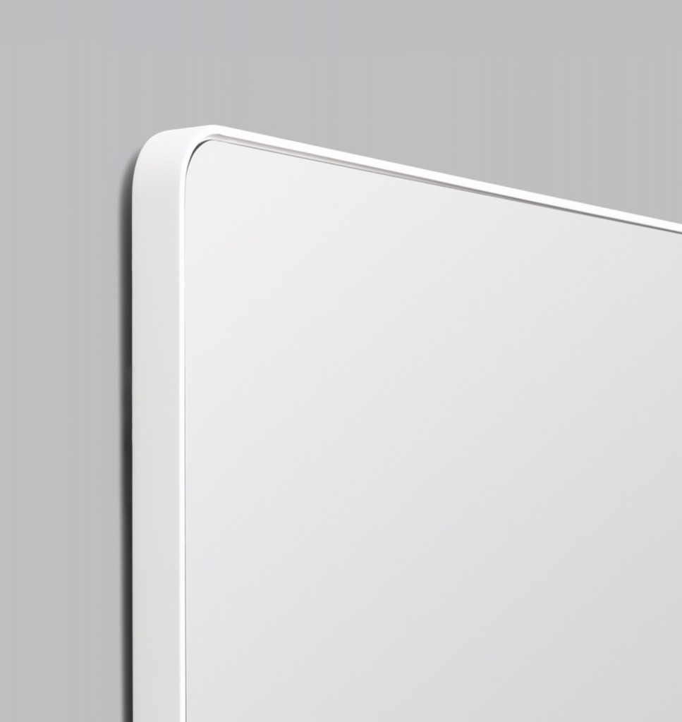 Errol Rectangle Curved | Bright White | Detail