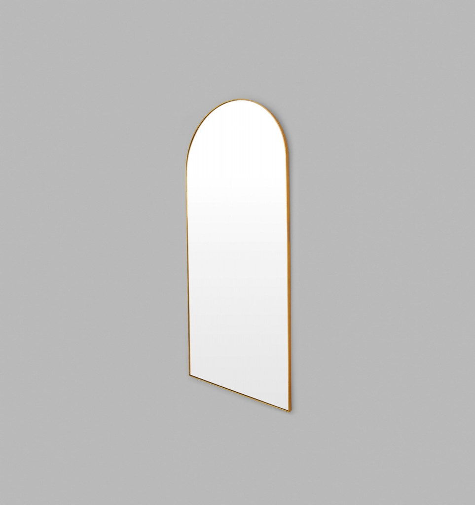 Bjorn Brass Arched Top Leaner Mirror 80 x 180 x 2.5 cm