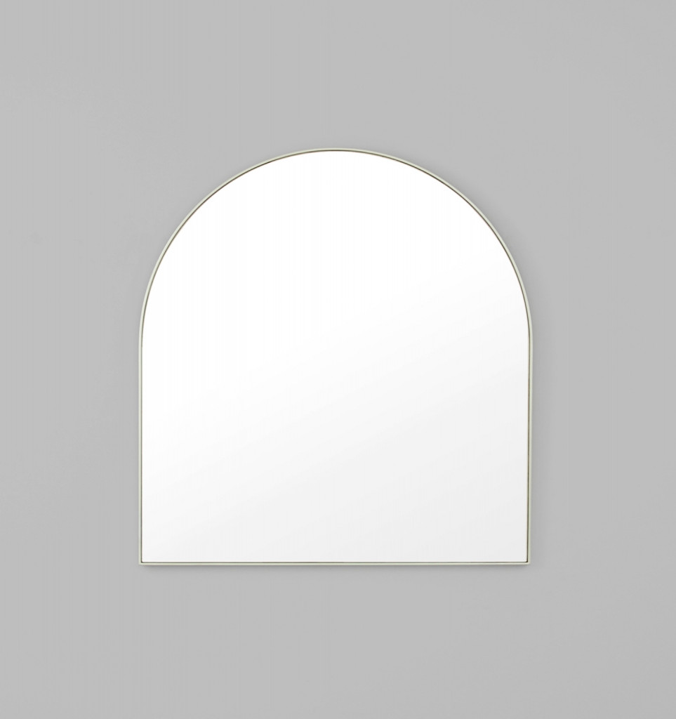 Bjorn Silver Arched Top small Mirror 80 x 85 x 2.5 cm