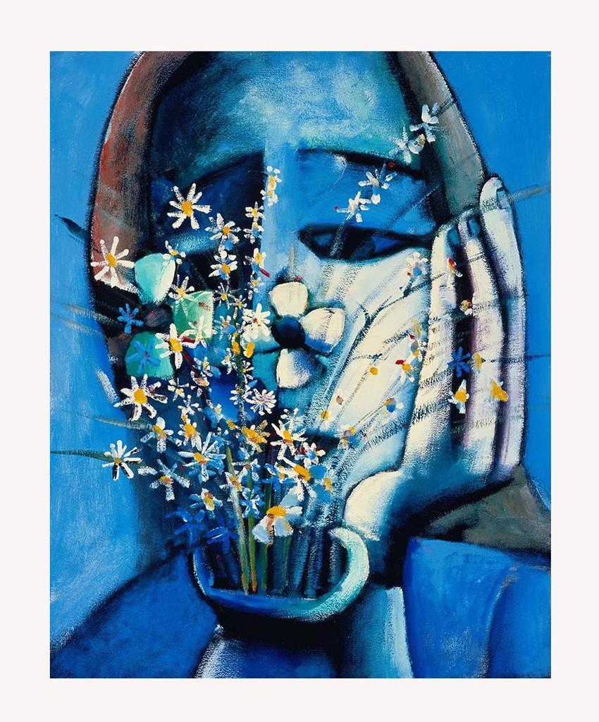 Charles Blackman Blue Vase
