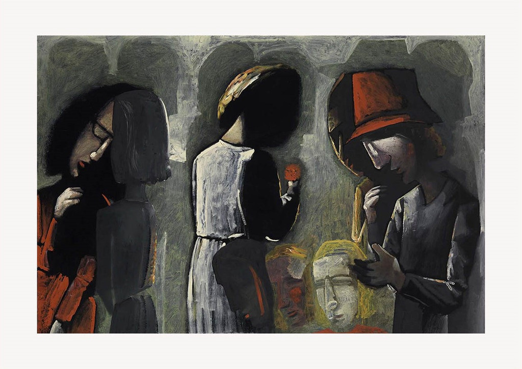 Charles Blackman Dreaming In The Street