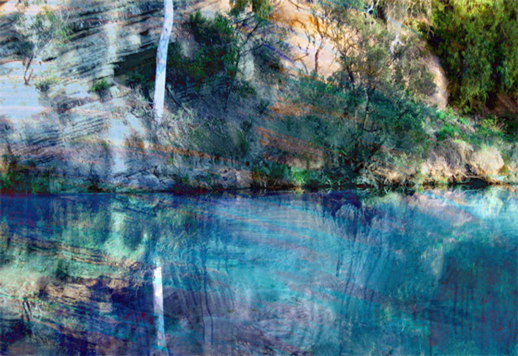 Limited Edition Print Riverbank by Jan Neil