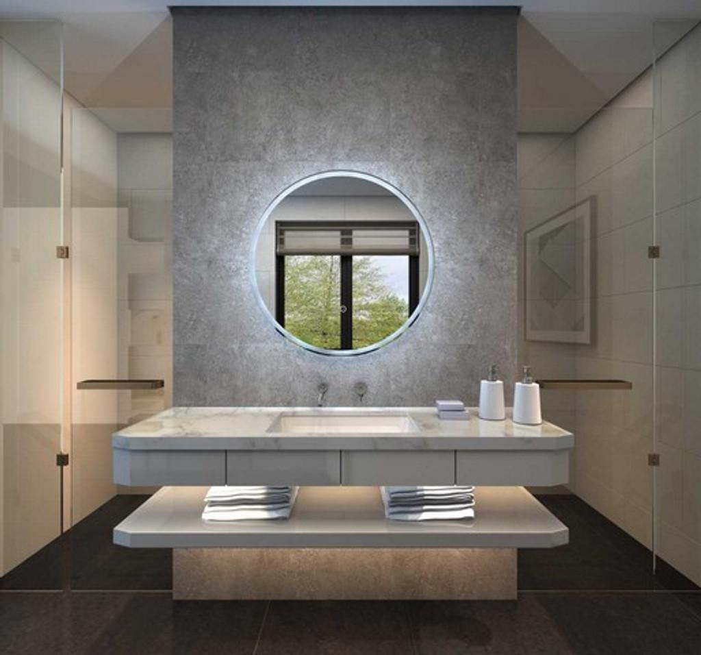 Round Backlit Mirror 80 cm
