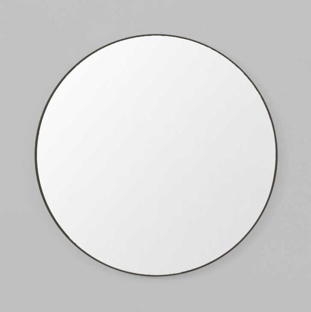 Print Decor   Modern Circular Mirror   Black