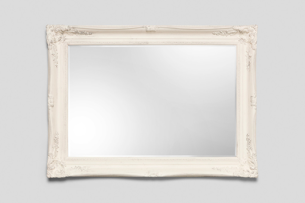 Imperial  Framed Mirror Vintage White