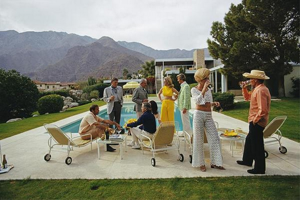 Desert House Party by Slim Aarons