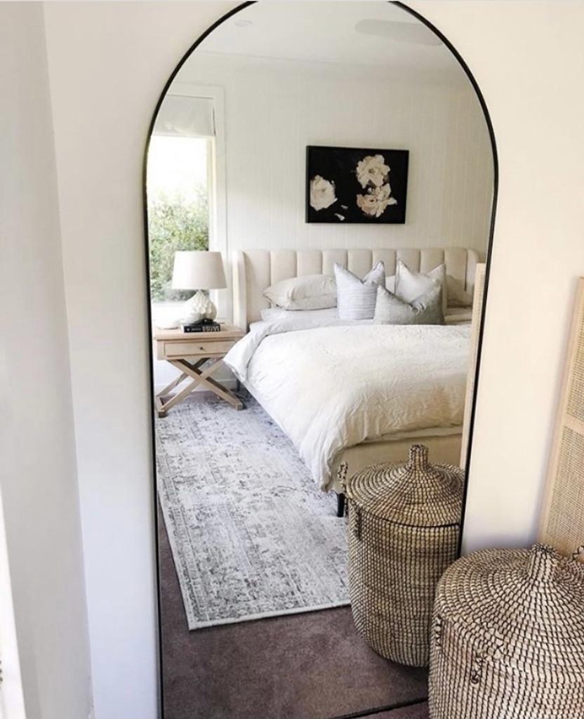 Arched Leaner Floor Mirror Bjorn Black Print Decor Art Mirrors Frames