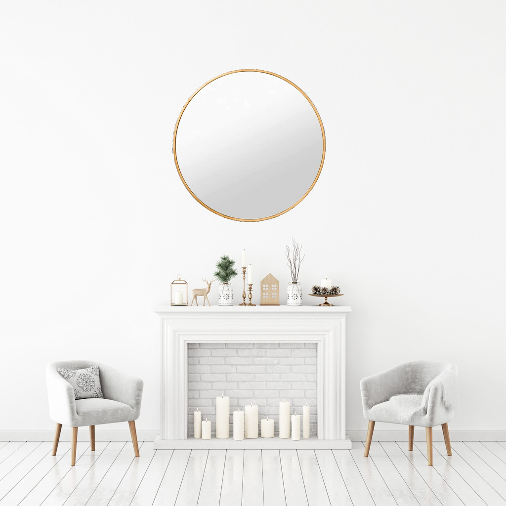 Stella Mirror over fire place
