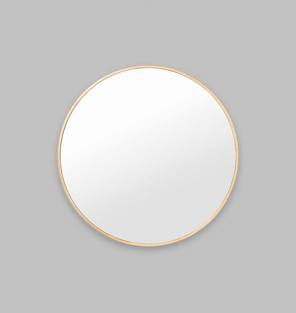 Modern Round Brass Mirror