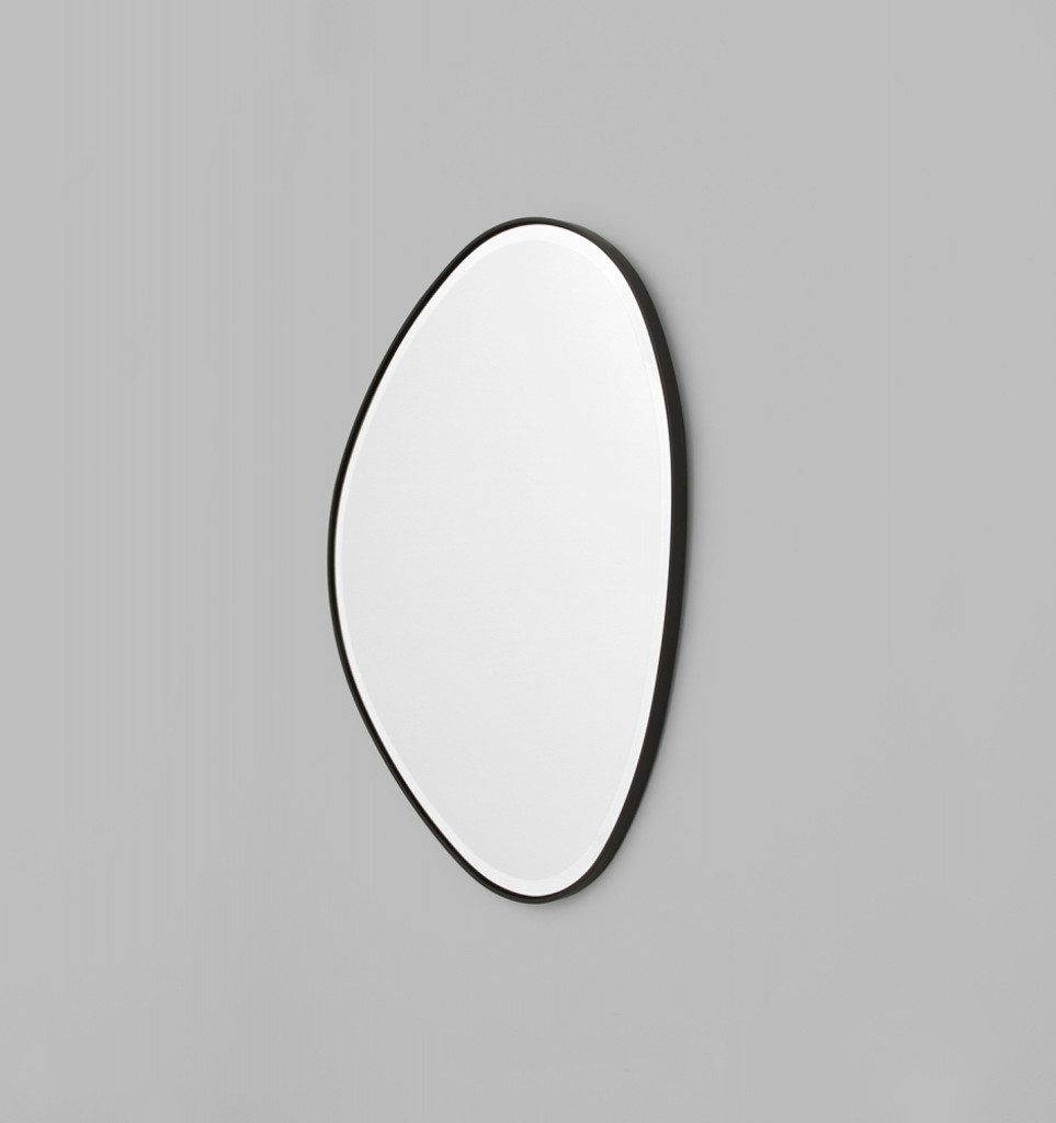 Riverstone Mirror | 70 x 90cm Black