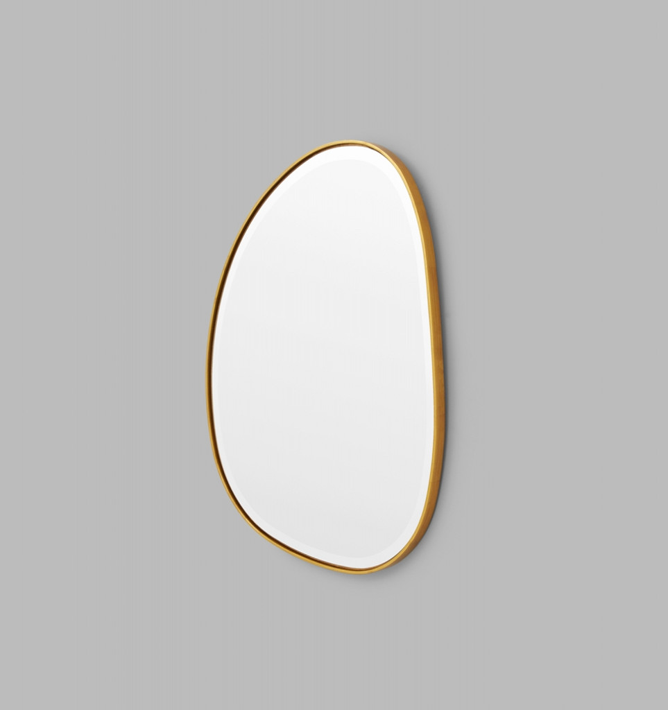 Riverstone Mirror | 55 x 70cm Brass