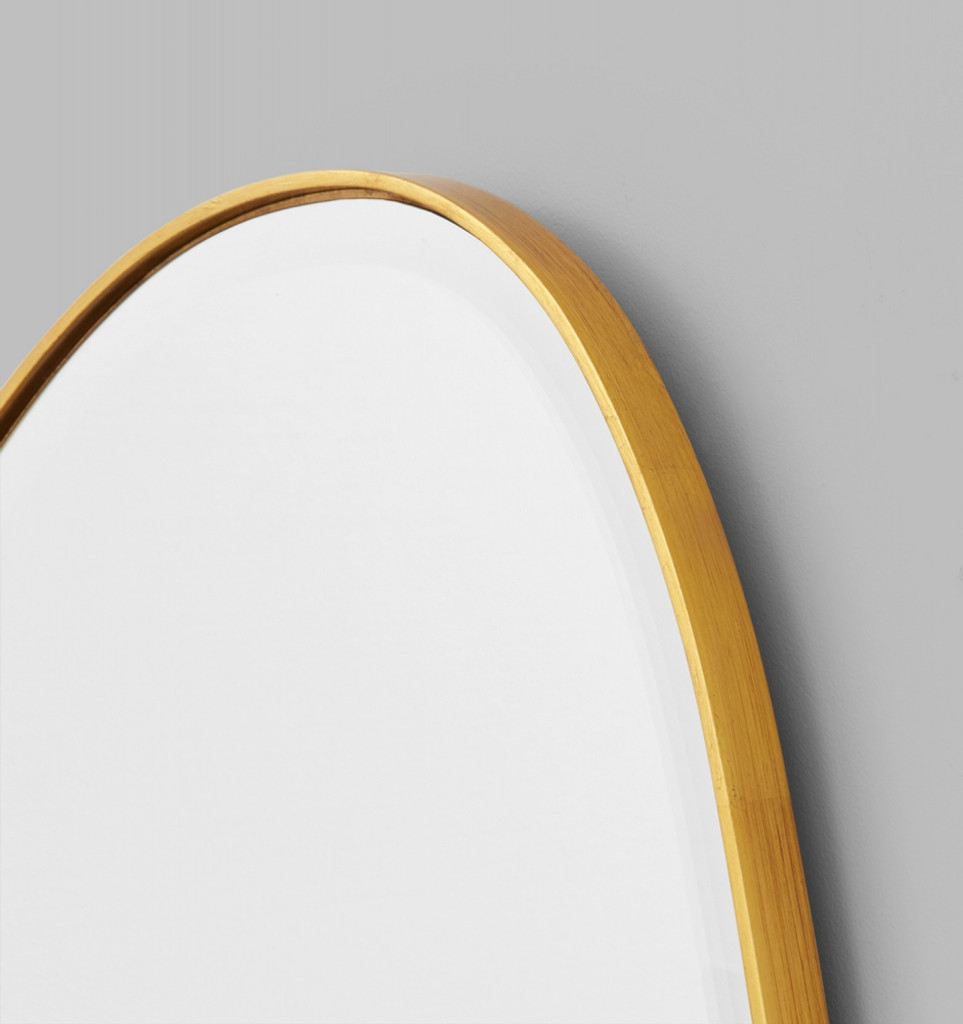 Riverstone Mirror | Frame Close-Up Brass
