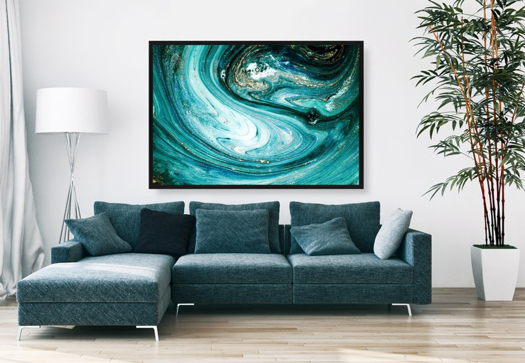 Teal Abstract In Situ