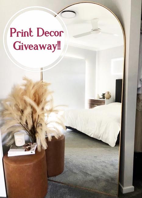 Print Decor Giveaway