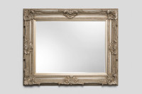 Print Décor - Grand Ornate Silver Beveled Mirror