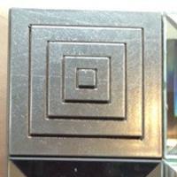 Print Decor | Silver Medallion Mirror - close up detail of corner