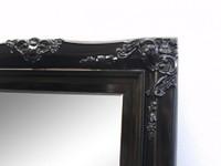 Princess Black Gloss Mirror Print Decor