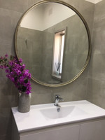 Simplicity Mirror in Silver in a room