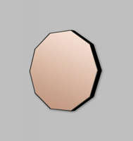 DUSK DECAGON ROSE TINTED MIRROR| PRINT DECOR | IN SITU