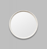 Round White Mirror Coastal | Print Decor