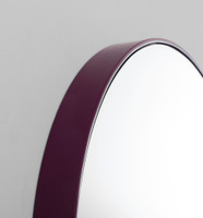 Print Decor | Modern Circular Mirror | Deep Plum | Detail
