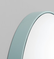 Print Decor | Modern Circular Mirror | Dusty Blue | Detail