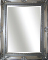 Big Ornate Mirror  Silver