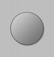 Round Black Mirror with grey tinted mirror glass