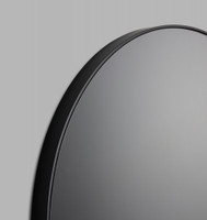 Round Black Mirror with grey tinted mirror glass (Detail)
