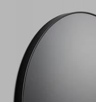 Round Black Mirror with grey tinted mirror glass (Detail)