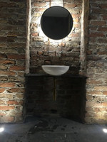 Backlit Mirror | Round Black Mirror with grey tinted mirror glass