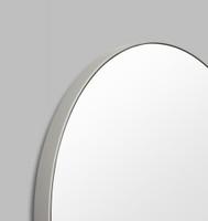 Modern Circular Mirror Mid Grey