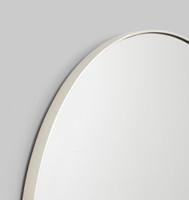 Modern Round Mirror | Bjorn | Silver, detail