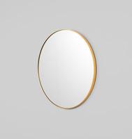 Modern Round Mirror | Bjorn | Brass