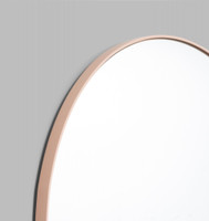 Modern Round Mirror | Bjorn | Powder Pink, detail