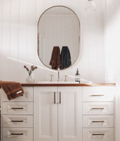 Bjorn Oval Brass 50 x 75 cm featured in @mrs_dubs_digs bathroom