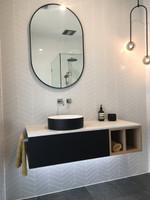 Bjorn Oval Black mirror 50 x 75 cm