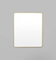 Errol Rectangle Curved | Brass
