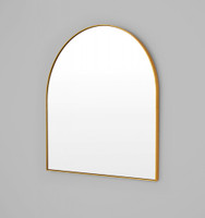 Bjorn Brass Arched Top small Mirror 80 x 85 x 2.5 cm