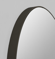 Print Decor | Modern Circular Mirror | Black | Detail