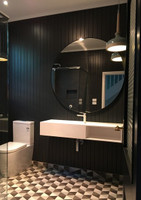 Print Decor | Modern Circular Mirror | Black | In Situ