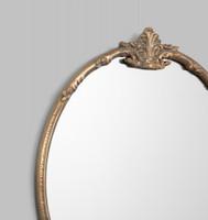 Lorraine Round Antique Brass , Print Decor , Detail