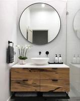 Above vanity mirror