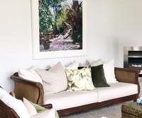 Barbados Bliss framed in white matt, white frame and UV Art Glass | Print Decor